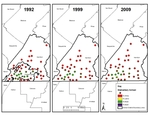 Map 04. Elementary School Racial Composition, Chattanooga-Hamilton County, Tennessee, 1992–2009.
