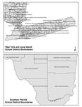 Map 01. School District Fragmentation, New York/Long Island and Southern Florida. by Genevieve Siegel-Hawley