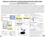 Collisions or Adsorption: An Electrochemical Random Walk Decides