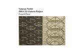 Pattern Project - French Press by Vanessa Nesbitt